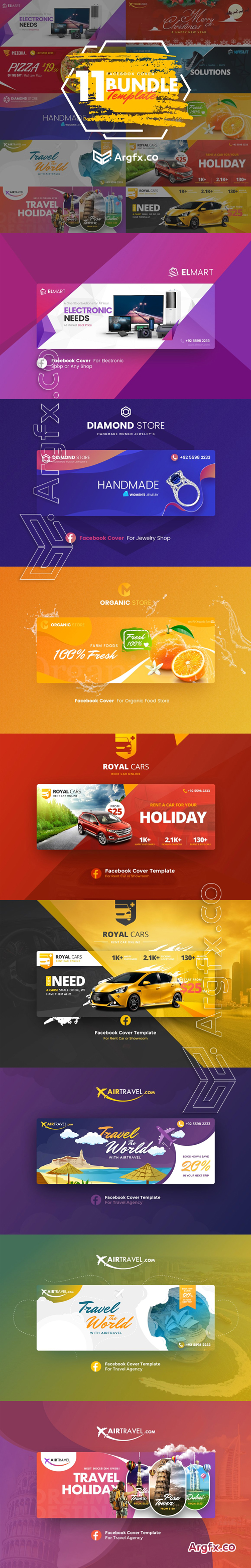 CreativeMarket - Facebook Cover Bundle 2964061