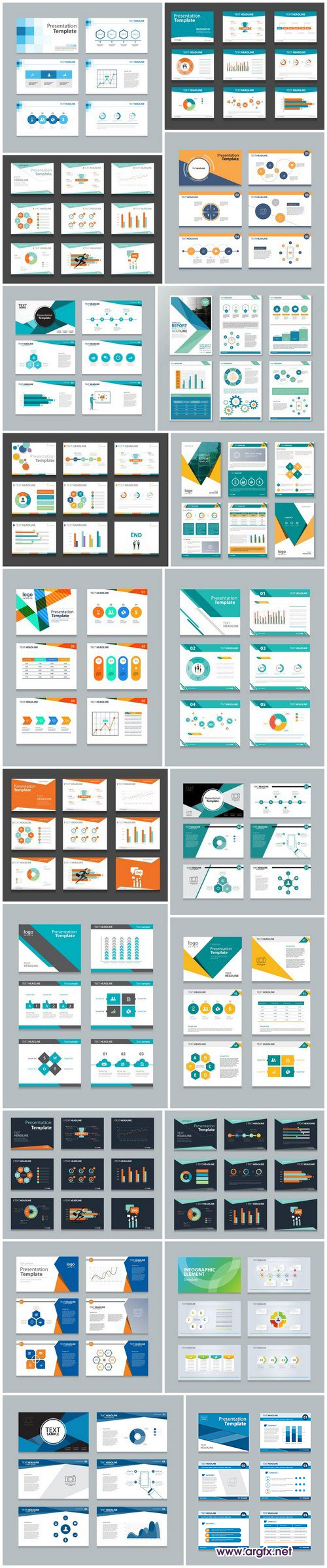 Corporate Presentation & Polygon Infographic 2 - 20xEPS