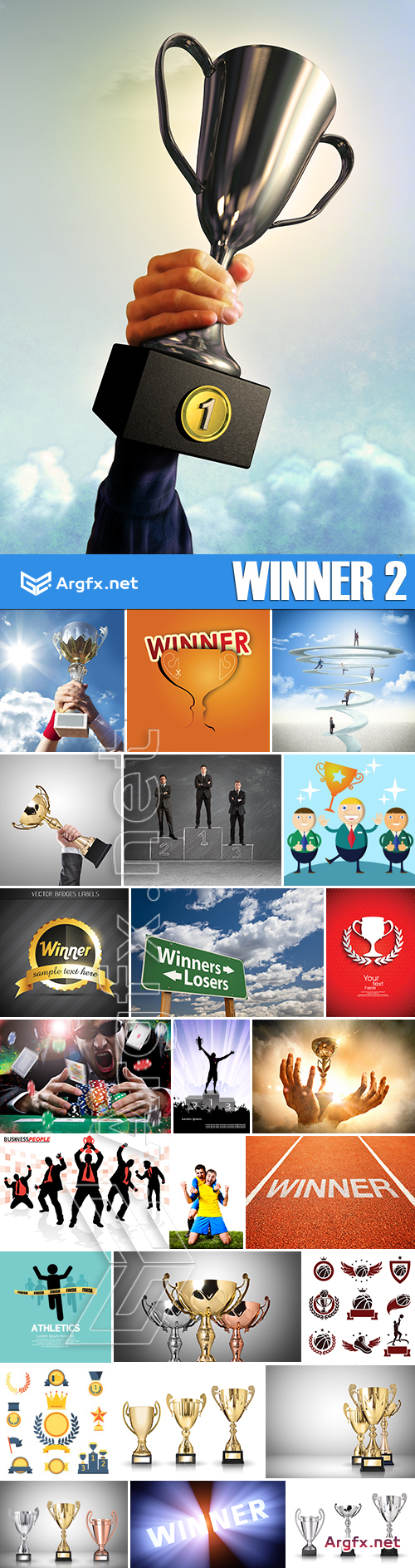 Stock Photos - Winner 2, 9xEPS 16xJPG