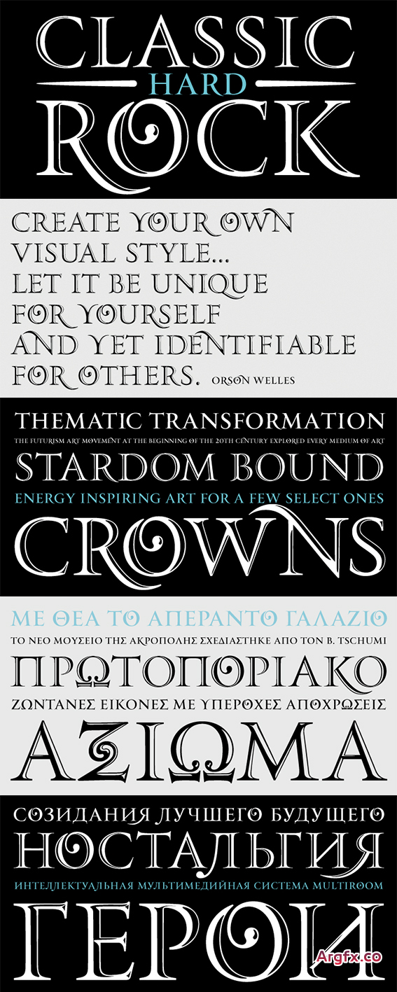 PF Monumenta Pro Font Family - 3 Fonts for $185